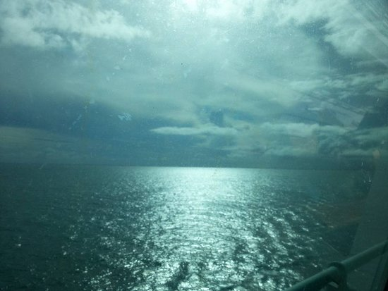 Majesty of the Seas: View from stateroom 9008, SOV (obstructed).