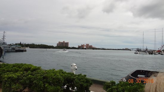 Enchantment of the Seas: I shot of paradise island from the seaport at Nassau