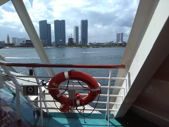 Enchantment of the Seas: Back of the ship at muster station 11