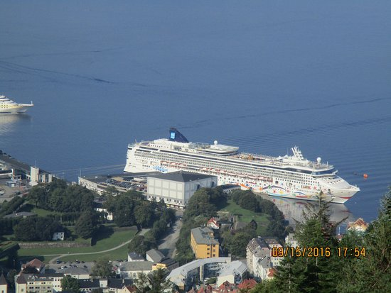Norwegian Star: View of our ship from above