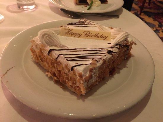 Norwegian Sky: Complimentary Birthday Cake