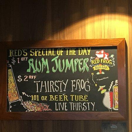 Carnival Imagination: Red frog sign