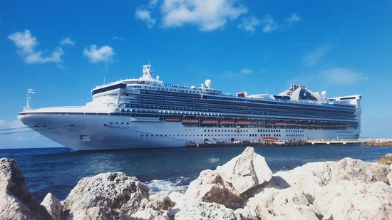 Grand Princess: Docked in port on a wonderful sunny carribean day.