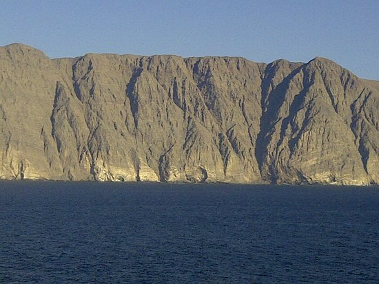 Norwegian Sun: Stark landscape in northern Chile, sailing south from Arica.