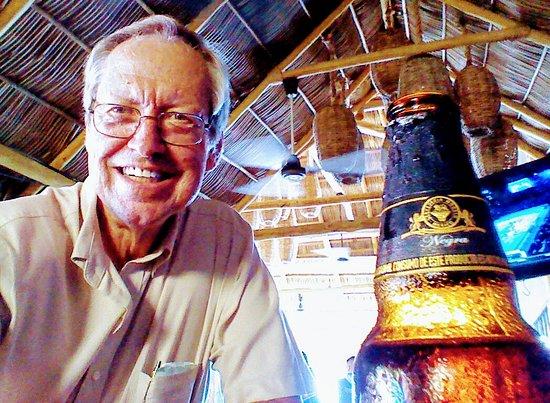 Grand Princess: The reviewer having a beer at Punta Mita