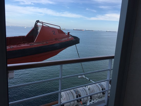 Carnival Imagination: The view from our door.. V34.. no problemo!