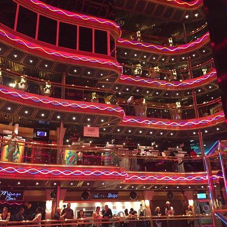 Carnival Imagination: Inside of the ship..