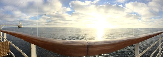 Carnival Imagination: Gorgeous sunrise from the bow. our first day was out to sea.