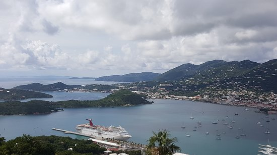 Carnival Fascination: Take the cable car in St Thomas. Excellent views and cheap drinks at the to