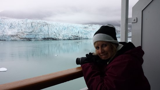 Norwegian Sun: Taken off our balcony going through Glacier Bay. We went in July and this was the coldest. Only time I wore a hat and gloves, so don