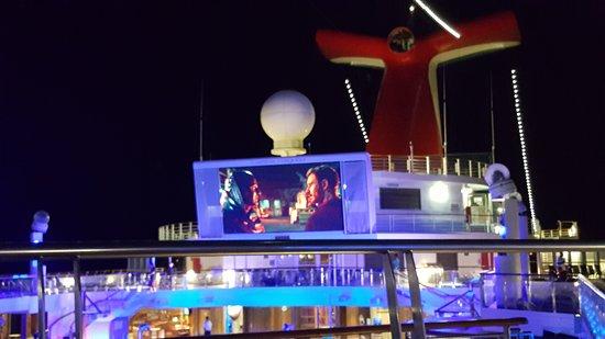 Carnival Conquest: movie night