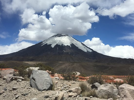 Celebrity Infinity: Volcano in Putre Chile.  90 miles from Arica Chile, near Bolivian border