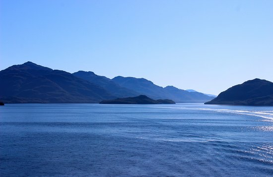Celebrity Infinity: Sailing through the Chilean Fjords.