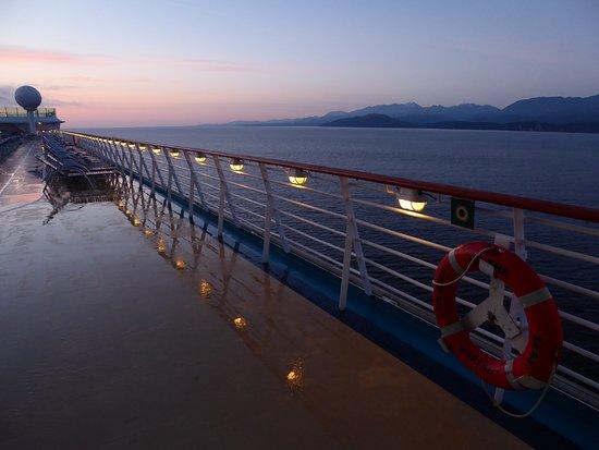 Explorer of the Seas: Day break between Victoria BC and Port Angeles WA.