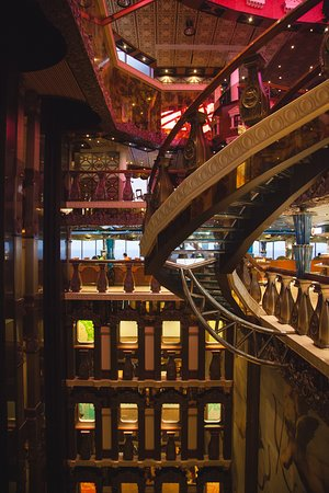 Carnival Pride: Stairs up to the fancy steakhouse