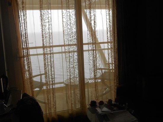 Celebrity Constellation: Dark net curtains,very old