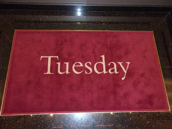"""Maasdam: The """"day-of-the-week"""" rugs in the elevators were a nice helpful tou"""