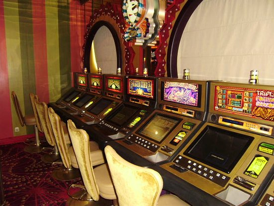 Navigator of the Seas: bank of slot machines