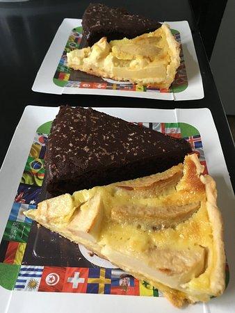 Torta de Chocolate y Tarta de Manzana