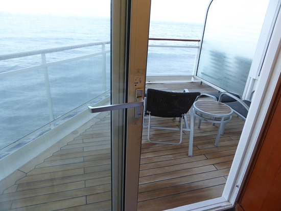 Celebrity Millennium: Looking out of room to balcony