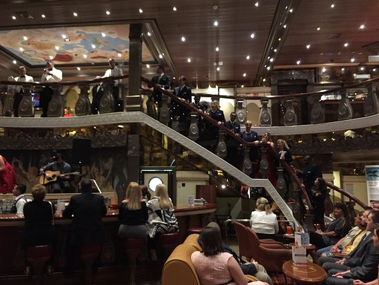 Carnival Pride: Pride Captain and officers on Captains formal night