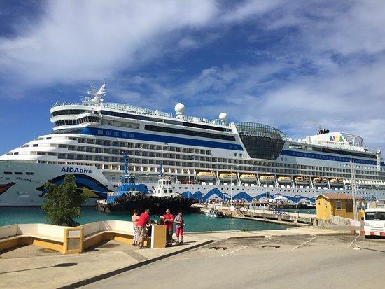 Navigator of the Seas docked in Bonair