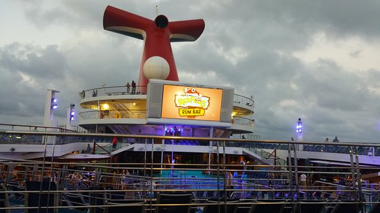 Carnival Triumph - we had cloudy, rainy weather for the first half of our c