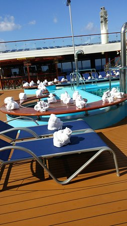 Carnival Triumph - towel animal parade on our last sea day.