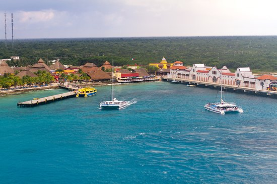 Carnival Glory: Cozumel port. It's gotten quite built up and commercial over the years