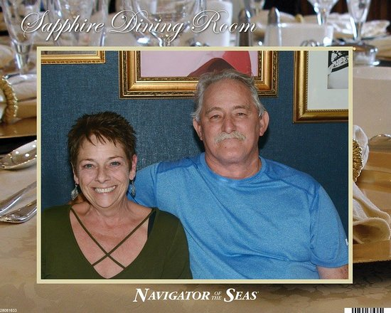 Navigator of the Seas: My wife and myself in the dining room
