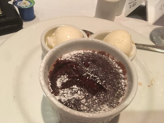 Carnival Conquest: Yummy melting cake. Perfect every night.