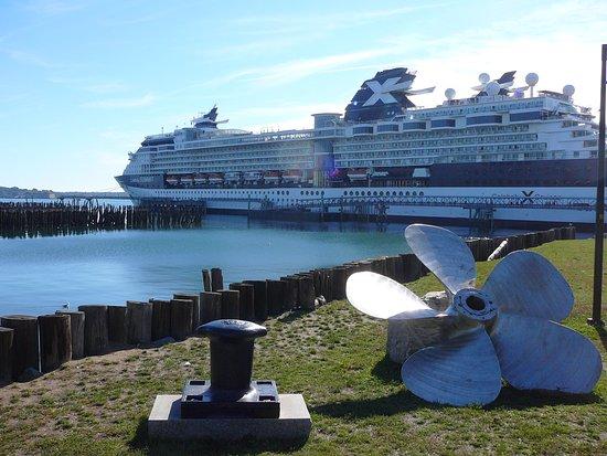 Celebrity Summit: Ship in port
