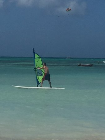 Navigator of the Seas: Wind-surfing/sailing on Aruba.