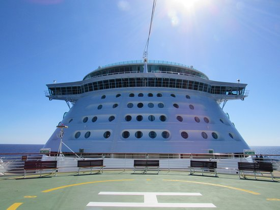View of Navigator of the Seas from the helipad