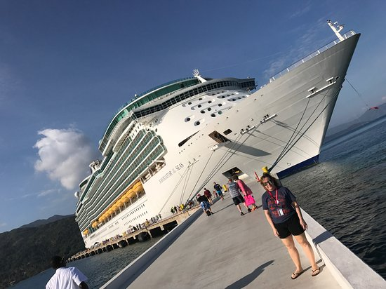 View of Navigator of the Seas from the dock at Labadee, Haiti