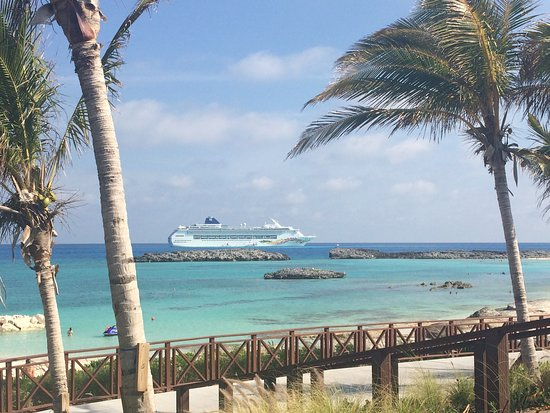 Norwegian Sky: View of the Sky from Great Stirrup Cay from the Cabana