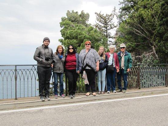 Amalfi Coast Day Trip from Sorrento: Positano, Amalfi, and Ravello: Photo of our shared tour group taken by Gino.