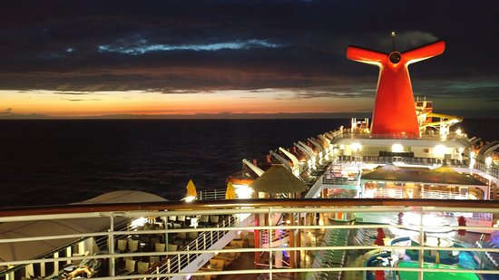 Carnival Ecstasy after sunset