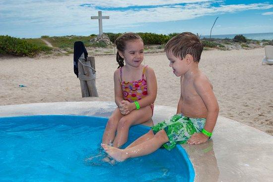 Carnival Fantasy: Grandchildren at pool
