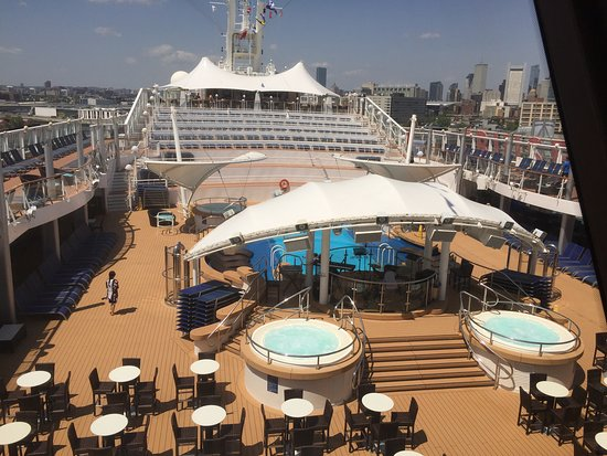 Norwegian Dawn: View from our living room