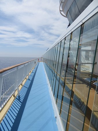Norwegian Dawn: Fitness track at the top of the ship