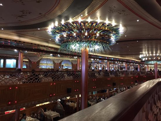 Carnival Legend: A picture of the dining room on the Legend