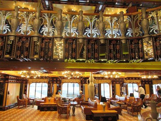 Carnival Legend: Beautiful main lounge