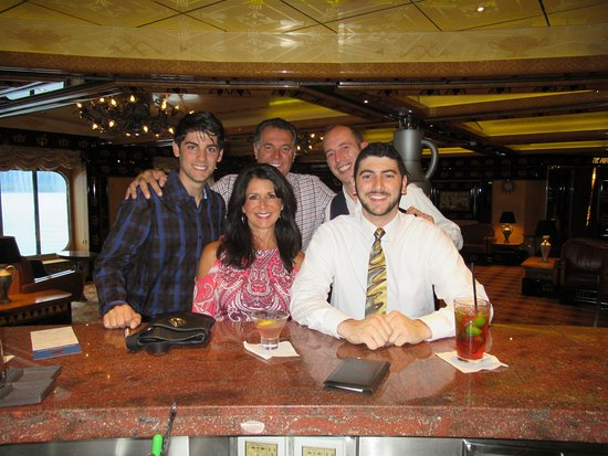 Carnival Legend: Enjoying time at one of the bars with Adrian Moaca. Such a wonderful young