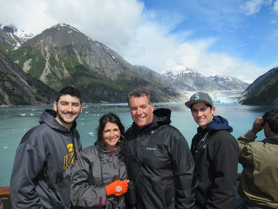 Carnival Legend: Cruising the Tracy Arm Fjord.