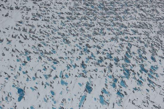 Radiance of the Seas: Glacial pools seen on flightseeing in Talkeetna