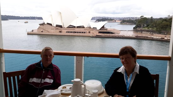 Golden Princess: breakfast on our balcony