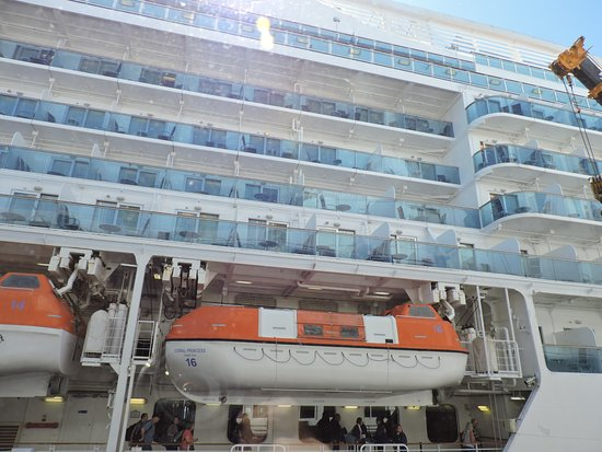 Coral Princess: A622 in top right recessed balcony