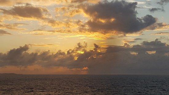 Norwegian Dawn: Gorgeous sky (between crazy weather)