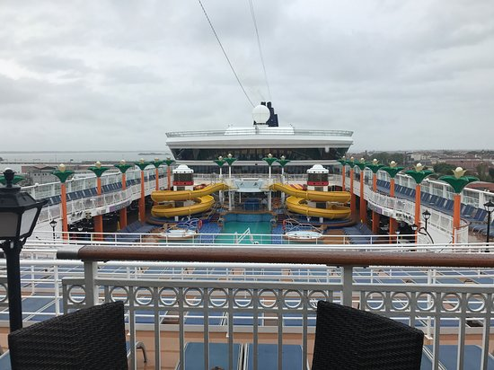Norwegian Star: Pool deck- day of departure from Venice